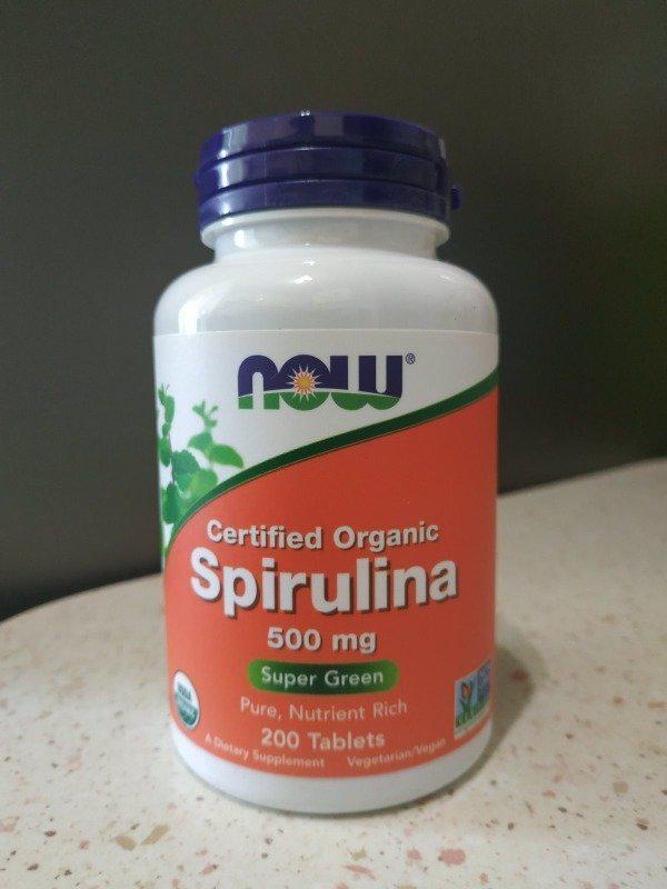 Now Foods, органическая спирулина, 500 мг, 200 таблеток