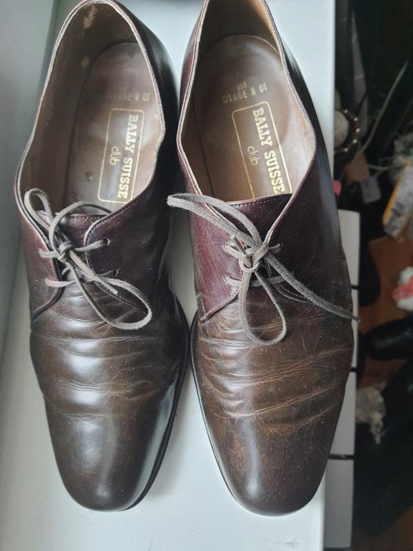 Фирменные швейцарские туфли  bally полностью натуральная кожа ...