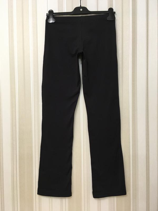 Черные стрейч брюки adidas - Фото 2