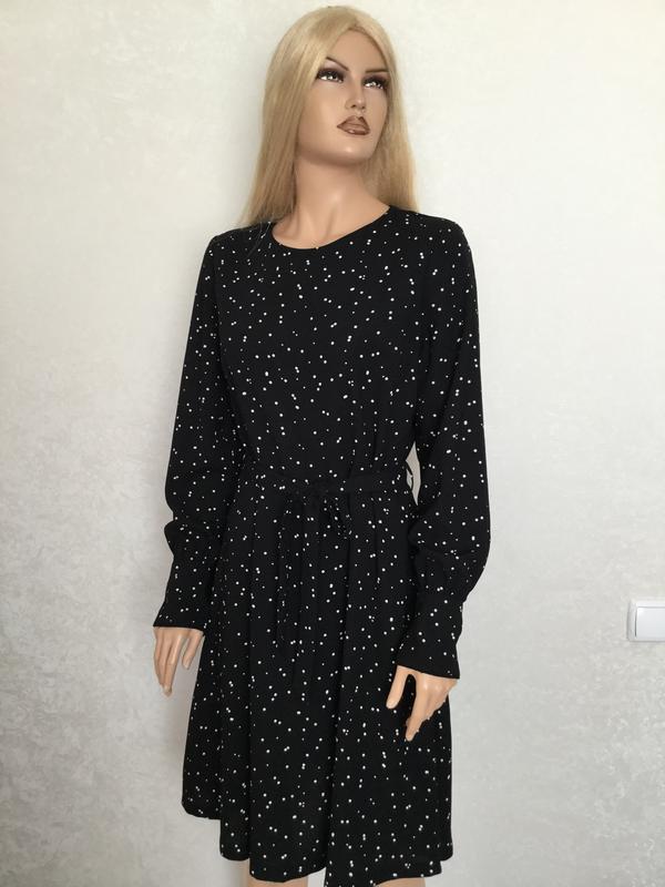 Платье миди в горошек next размер 12/14 - Фото 3