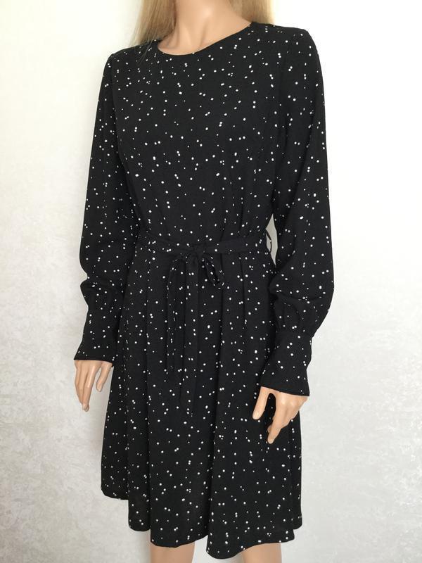Платье миди в горошек next размер 12/14 - Фото 4