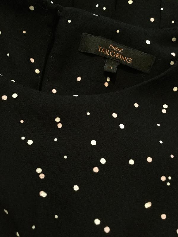 Платье миди в горошек next размер 12/14 - Фото 7