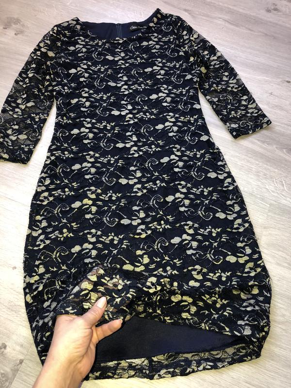Красивое кружевное платье футляр, нарядное платье,