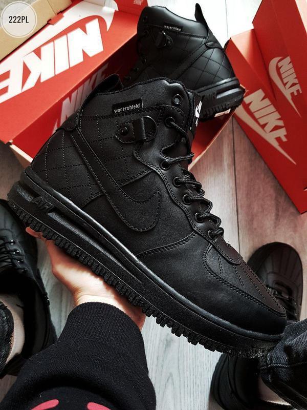❄️nike air force lunar black❄️зимние чёрные мужские кроссовки ...