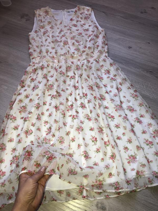 Нежное и красивое шифоновое платье, платье на запах, платье с ...