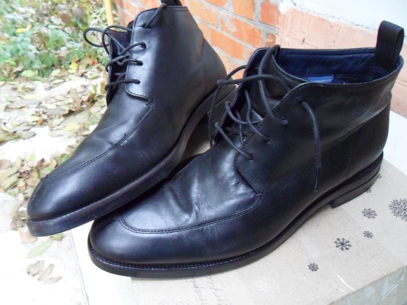 Кожаные качественные утепленные ботинки cole haan.размер 44