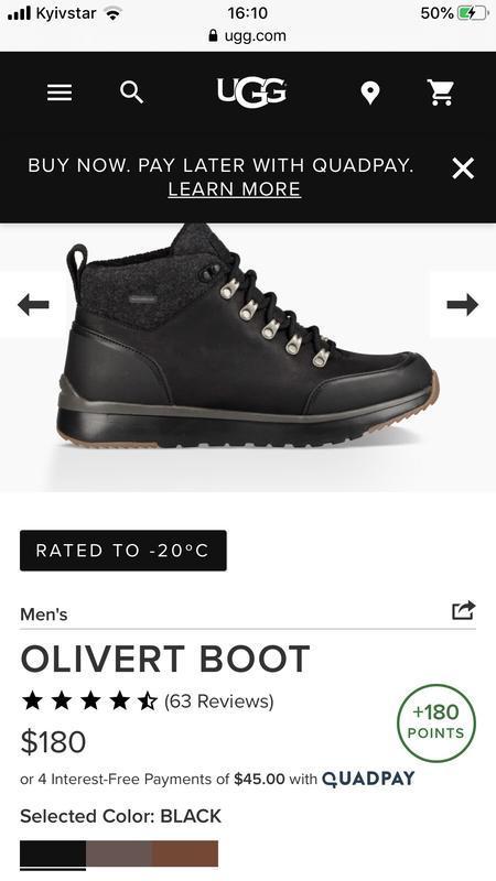 Ugg мужские ботинки зима - Фото 5