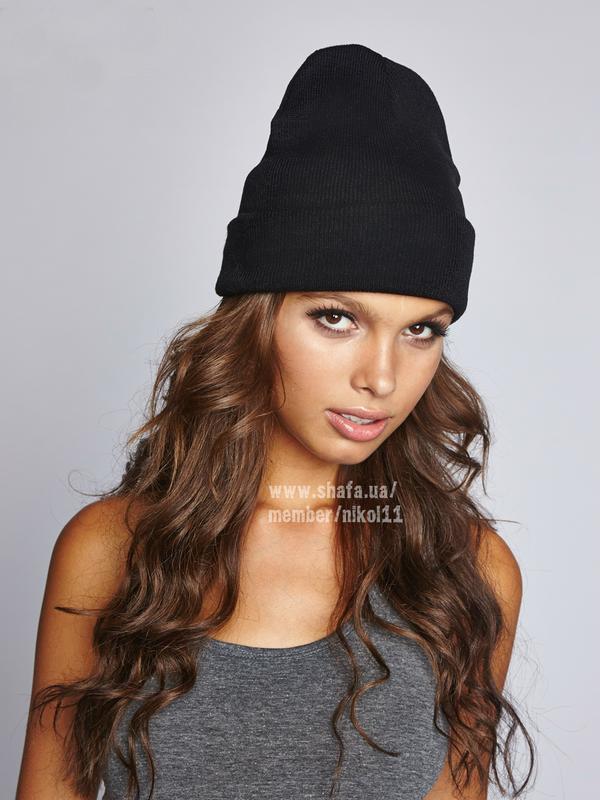Черная шапка бини ❤️