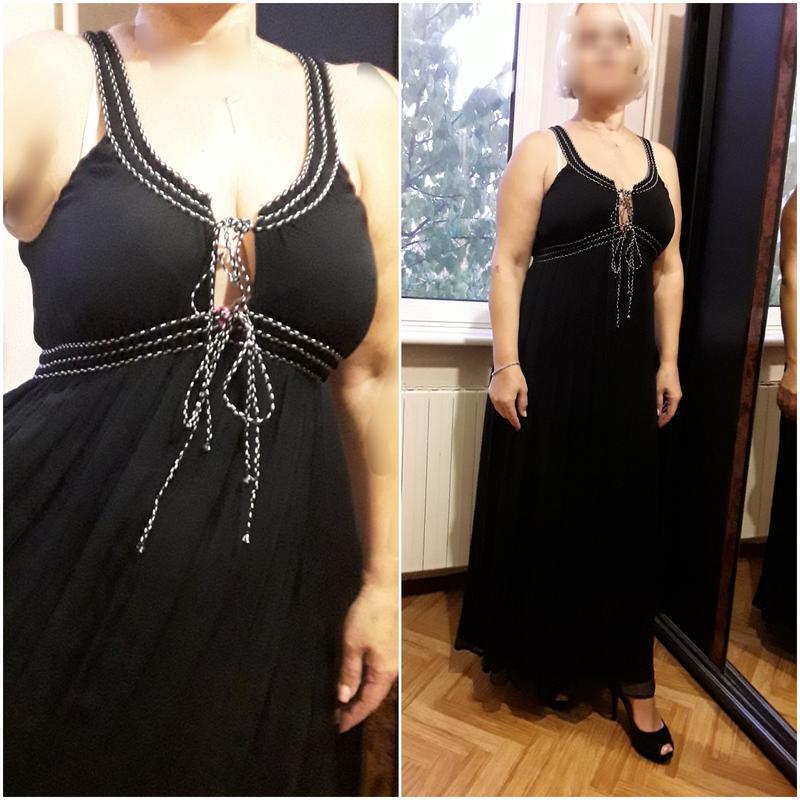 Шифоновое коктпльное  платье  в пол