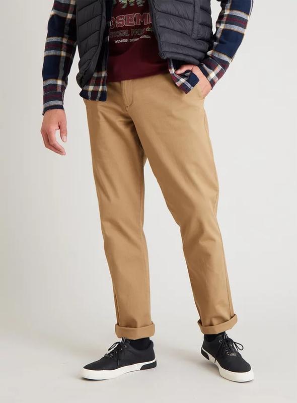 Tu хлопковые брюки чиносы.