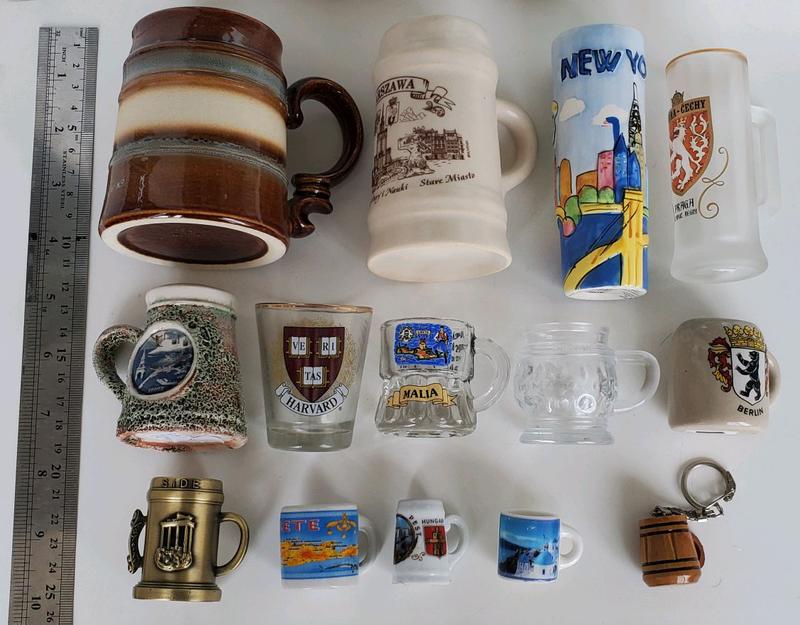 Бокалы коллекция. Миниатюрные сувенирные бокалы Бокалы для пива П