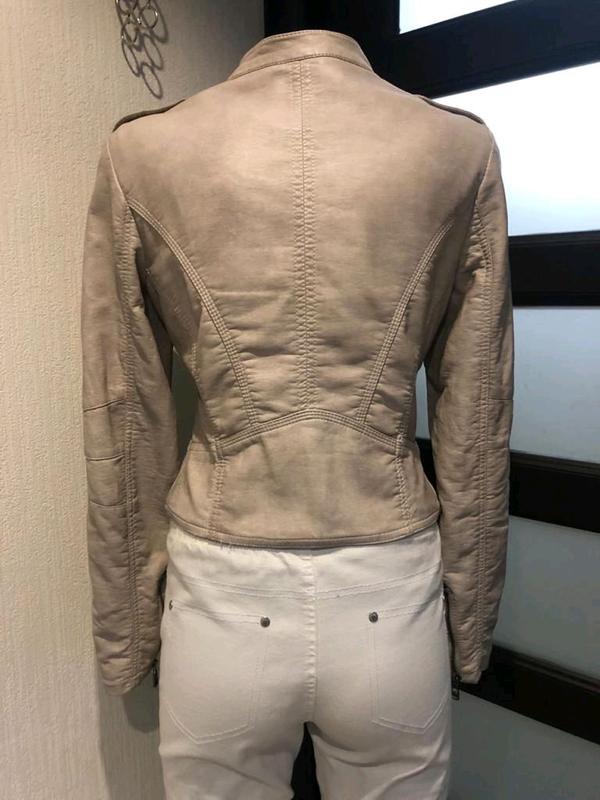 Кожаная куртка пиджак косуха - Фото 5