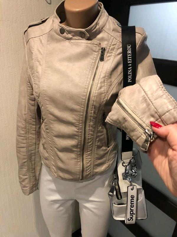 Кожаная куртка пиджак косуха - Фото 4