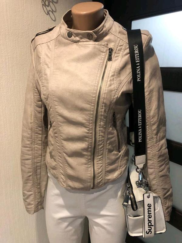 Кожаная куртка пиджак косуха - Фото 3