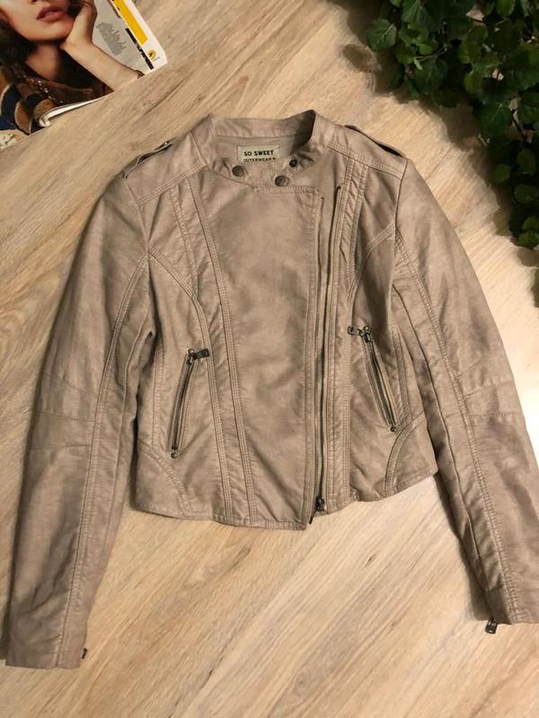 Кожаная куртка пиджак косуха - Фото 9