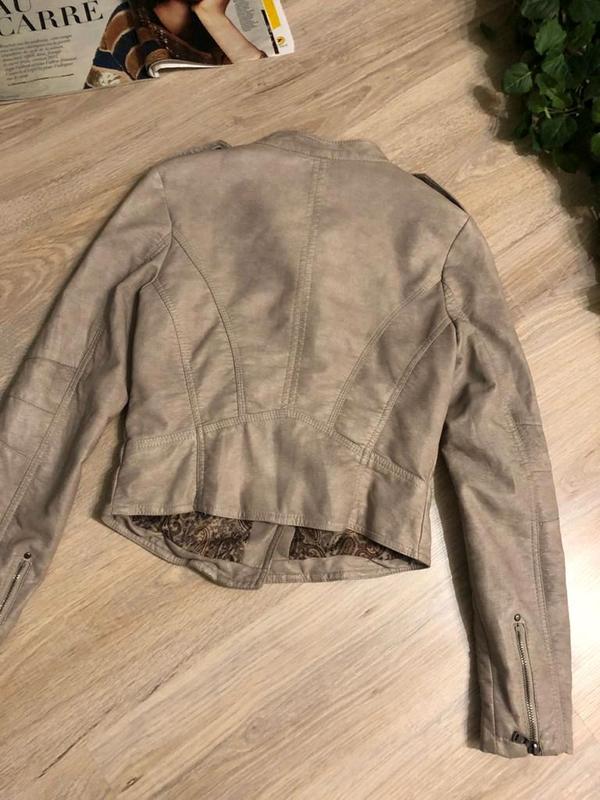 Кожаная куртка пиджак косуха - Фото 8