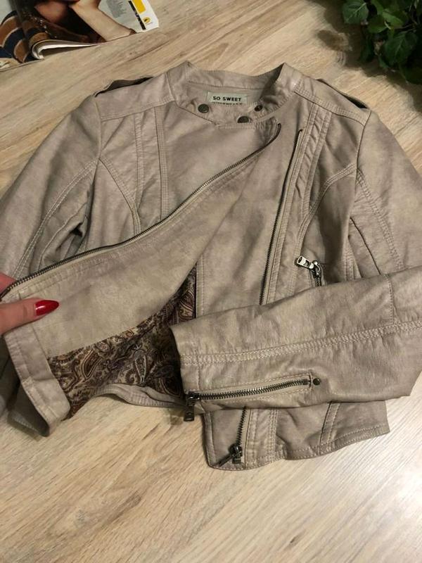 Кожаная куртка пиджак косуха - Фото 6