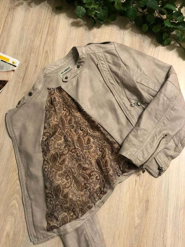 Кожаная куртка пиджак косуха - Фото 11