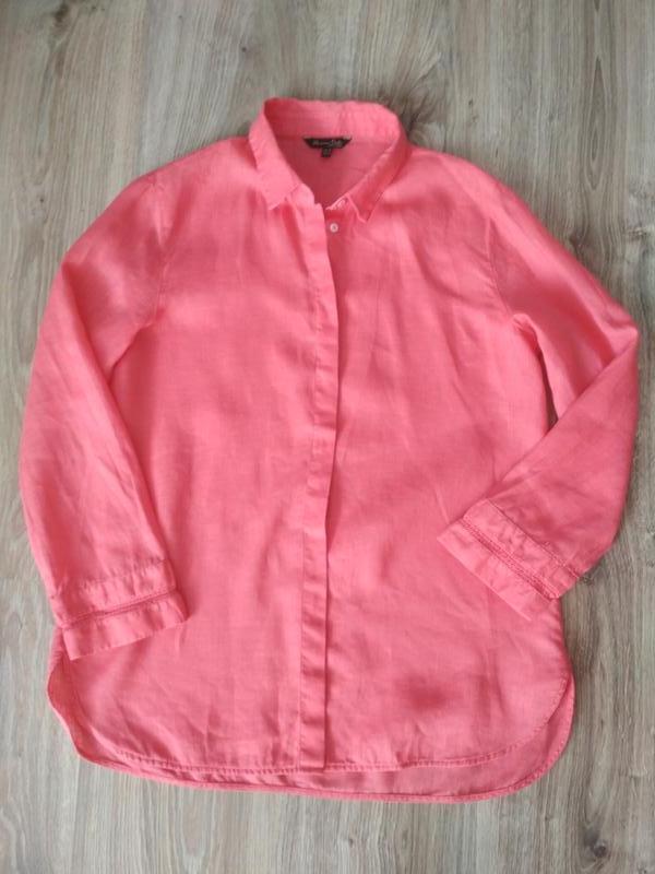 Блуза рубашка, 💯% лён