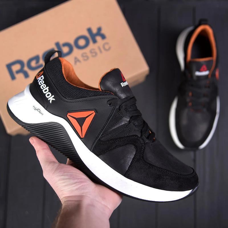 Мужские кожаные кроссовки  Reebok FLEXLIGHTX