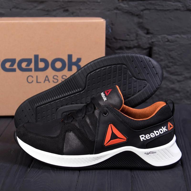 Мужские кожаные кроссовки  Reebok FLEXLIGHTX - Фото 2