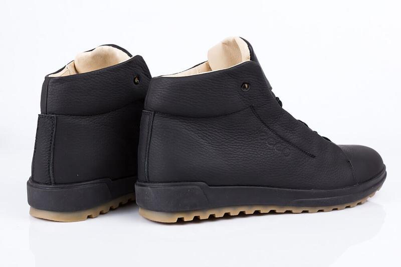 Отличные Качественные Мужские Кожаные Зимние Ботинки Ecco - Фото 2