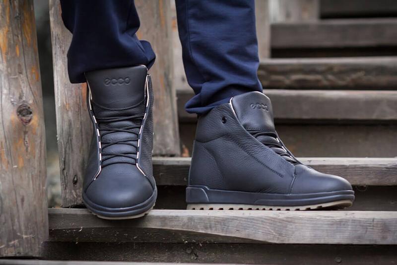Отличные Качественные Мужские Кожаные Зимние Ботинки Ecco - Фото 4