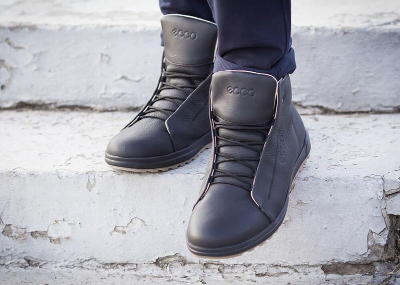 Отличные Качественные Мужские Кожаные Зимние Ботинки Ecco - Фото 6