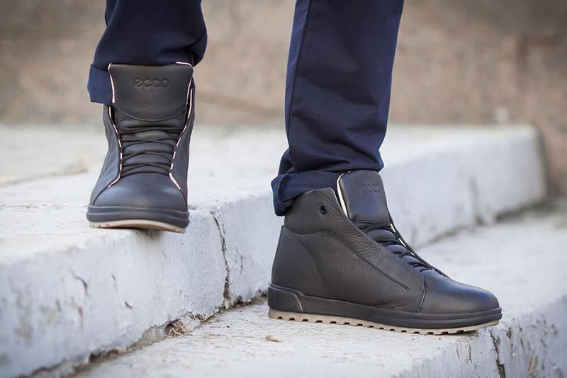 Отличные Качественные Мужские Кожаные Зимние Ботинки Ecco - Фото 7