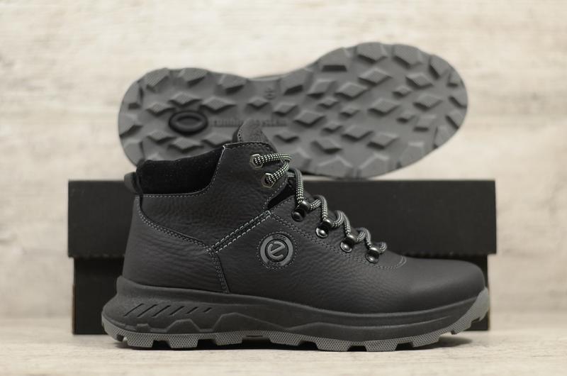 Качественные Мужские Кожаные Зимние Ботинки Ecco - Фото 4