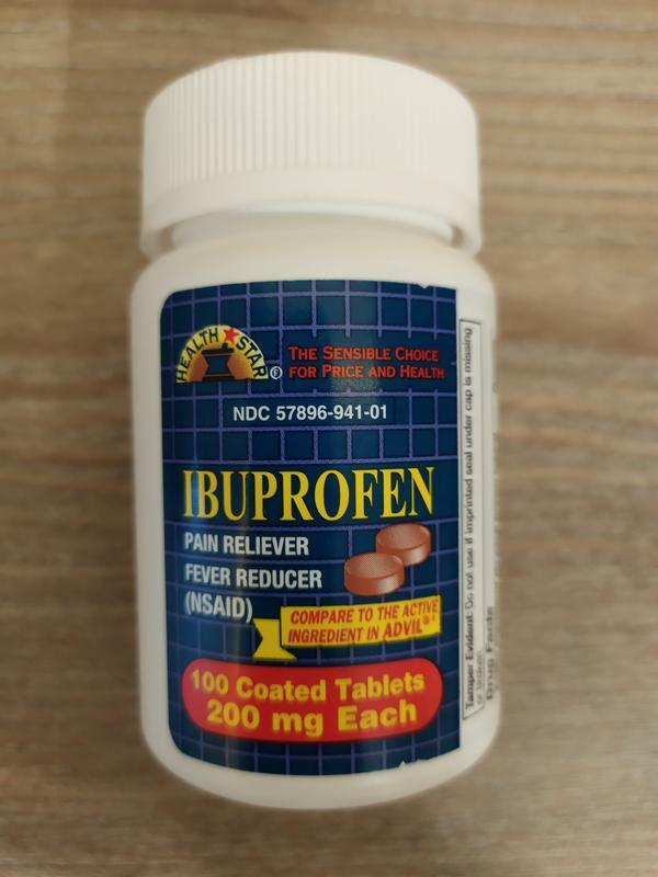 Обезболивающее ibuprofe 200 мг 100 таб. Geri Care США.