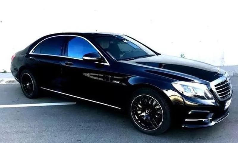 Mercedes W222 S500L черный аренда авто