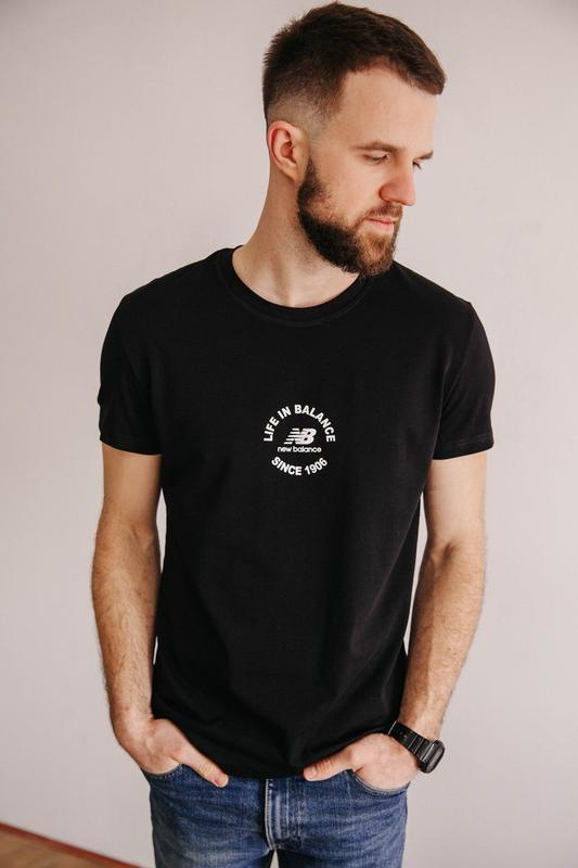 New balance, качественная мужская футболка, турецкая ткань, чо...