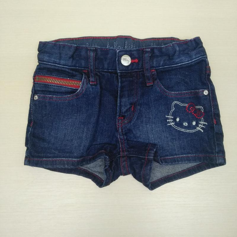 Шорты стильные джинсовые шорти h&m/ hello kitty