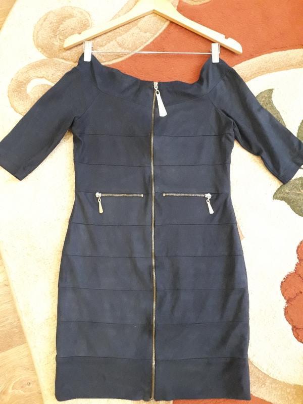 Замшевое синие платье