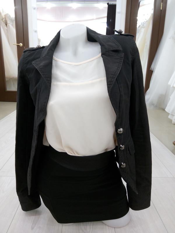 """🔥 обвал цен🔥 базовый интересный черный пиджак косуха """"h&m"""""""