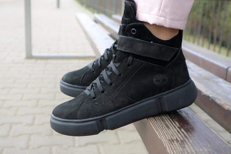 Крутые женские зимние ботинки {натуральный нубук}