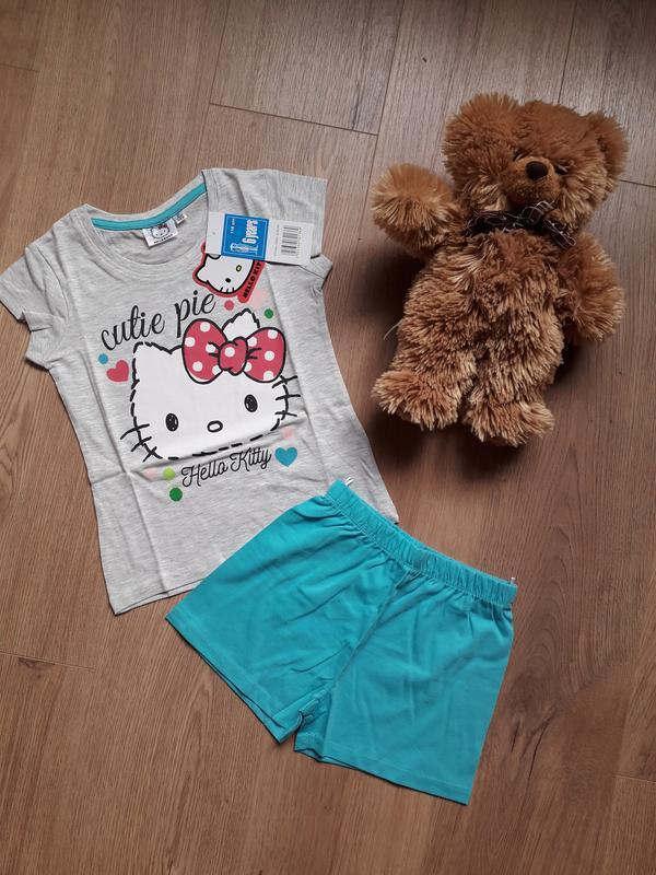 Пижама hello kitty. шорты и футболка. 6 лет. 116.