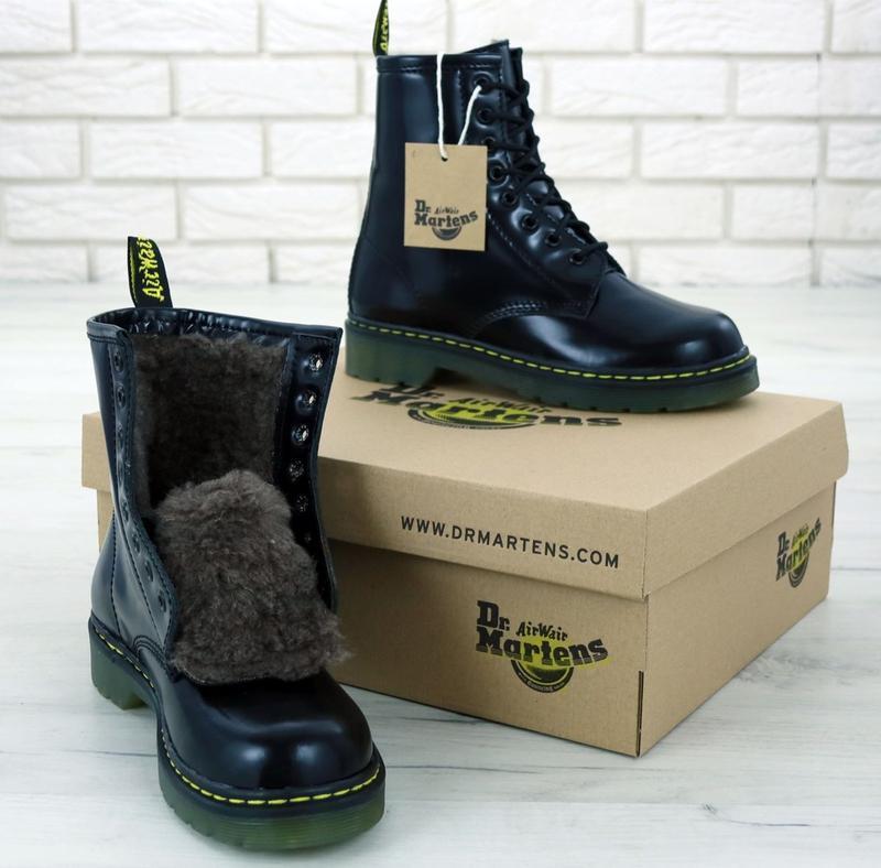 Женские зимние кожаные ботинки/ сапоги/ угги dr. martens 1460 ...