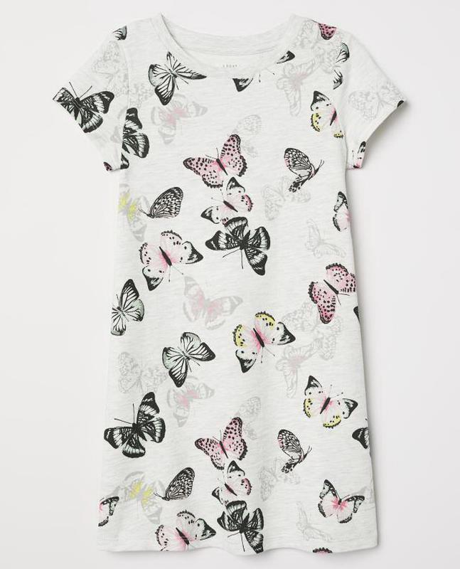 """H&m детское платье с коротким рукавом """"бабочки"""""""
