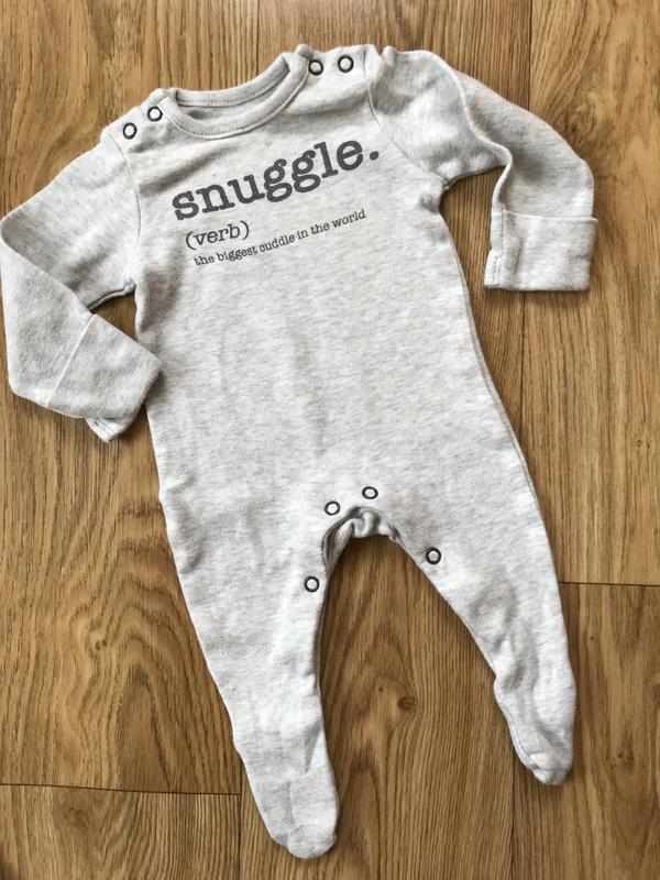 Стильный серый человечек для новорожденных с антицарапками