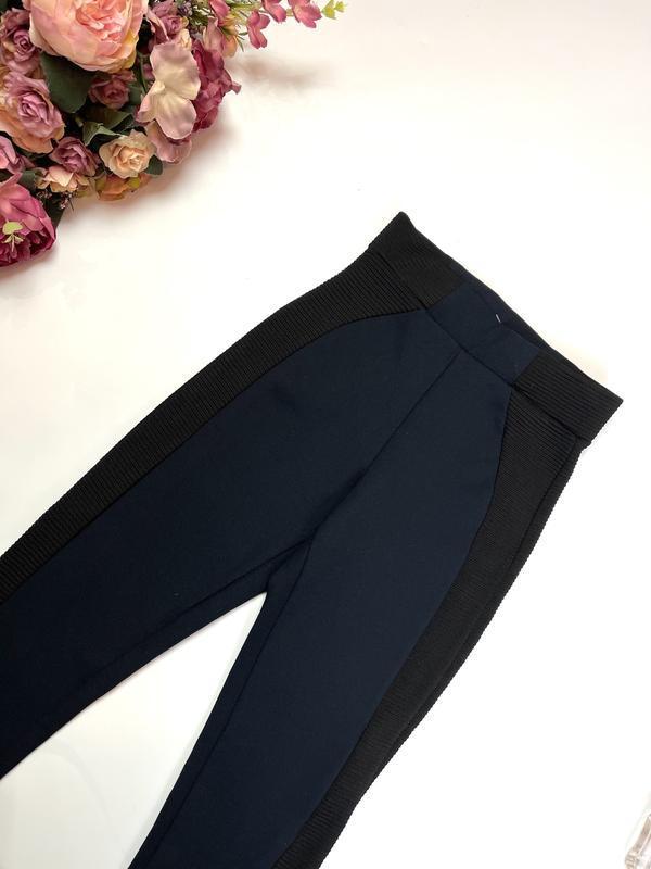 Zara лосины плотные леггинсы брюки xxs xs темно синие зара мал...