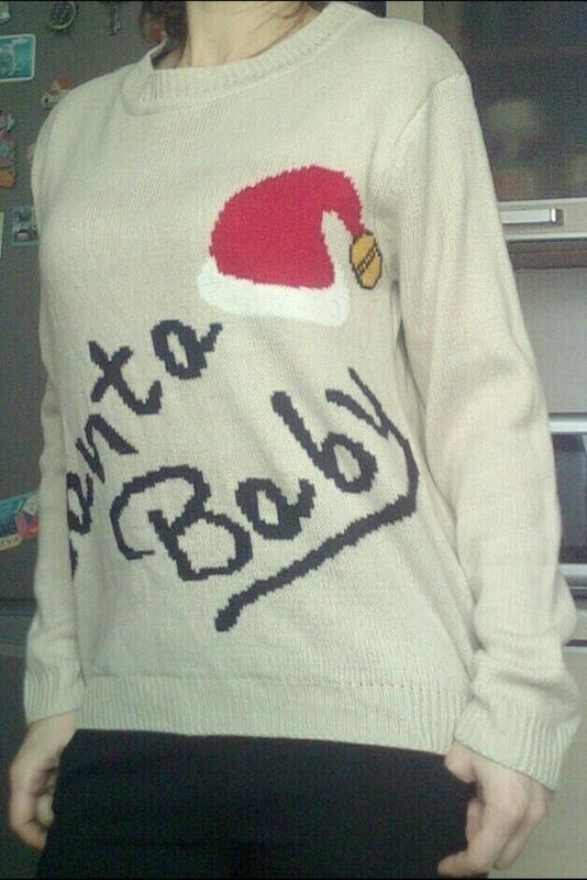 Новогодний свитшот, свитер с-м