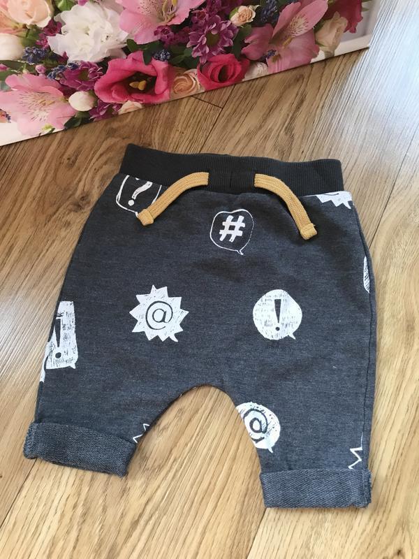 Стильные теплые штанишки для новорожденного