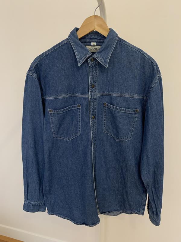 Сорочка рубашка джинсовая мужская стиль zara