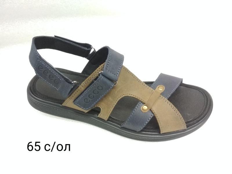 Мужские кожаные босоножки сандалии 40-45 ecco