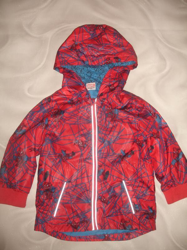 Фирменная куртка ветровка парка спайдермен на 3-4 года в идеале