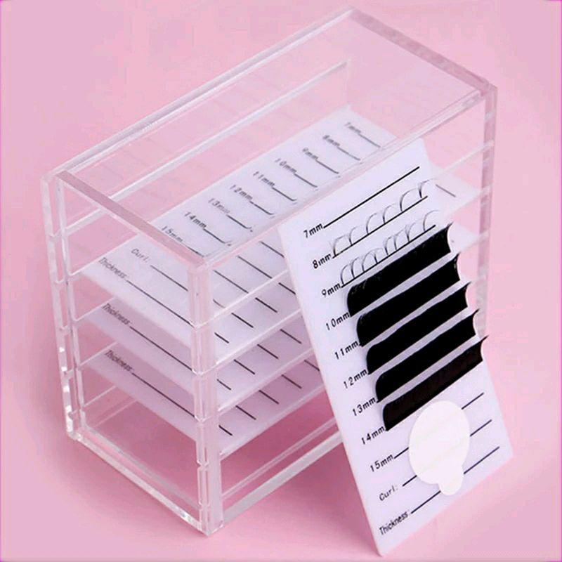 Подставка ( планшет) для ресниц 5 планшетов  в коробке. Лэшбокс