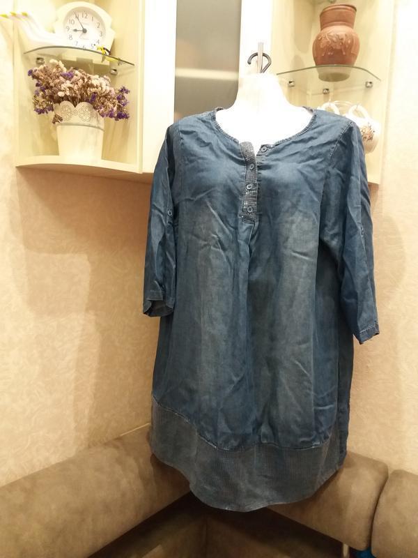 Стильное джинсовое платье - туника. италия