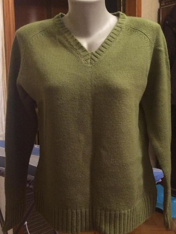 Теплый свитер,джемпер,кофта шерсть от yessica,c&a